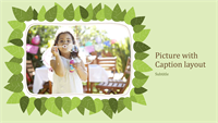 Family photo album (green leaf nature design)