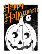 Halloween cards (2 per page, works with Avery 5315 and similar)