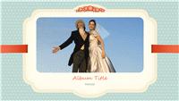 Wedding photo album (blue, hearts pattern design)
