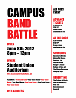 Student flyer (red and black bold design)