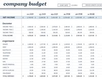 18 period budget (white)