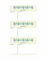 Recipe cards (grapes design, 3 per page)