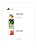 Event menu (Simple design)