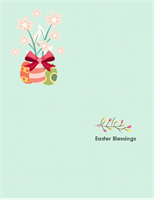 Easter card (with lily, quarter-fold)