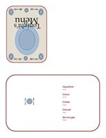 Dinner menu (quarter-fold)