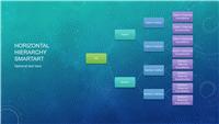 Family tree chart (horizontal, blue, widescreen)