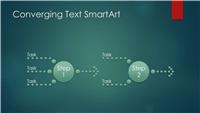 Process diagram  (converging text, green bubble design, widescreen)