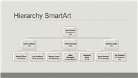 Hierarchy organizational chart (gray on gray, widescreen)
