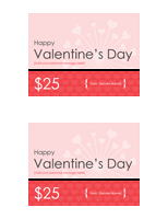 Valentine gift certificates (2 per page)