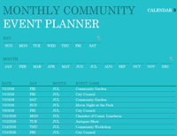 Community event planner