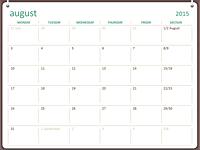 2015-2016 academic calendar (Aug-Jul)