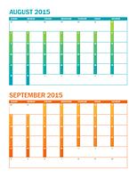 2015-2016 academic year calendar (Sun-Sat)