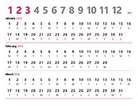 2016 quarterly calendar