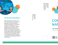 Tri-fold business marketing brochure