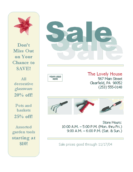 Business sale flyer