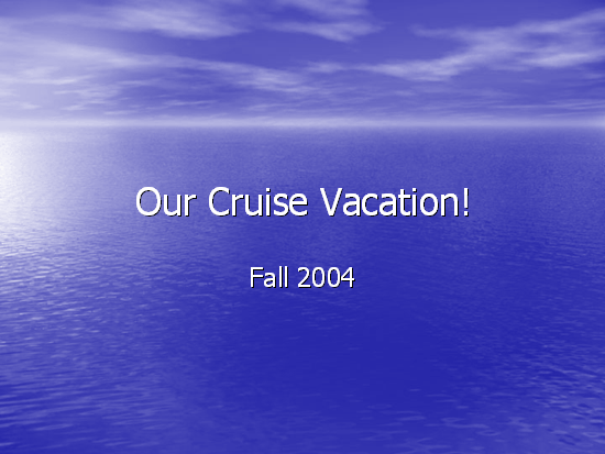 Cruise vacation photo album slideshow