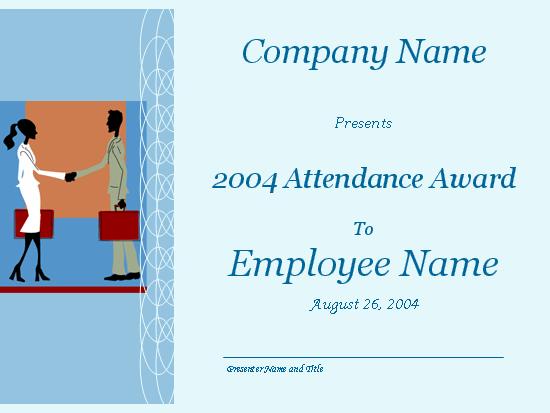 Employee attendance award