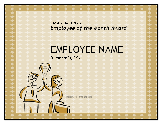 Certificates Office – Examples of Award Certificates