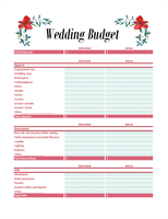 Printables Wedding Planning Budget Worksheet budgets office com wedding budget planner excel template