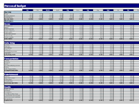 Budgets Office – Monthly Budget Worksheet Excel