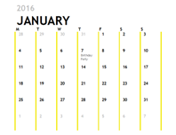 12-Month Calendar