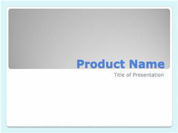 Product overview presentation