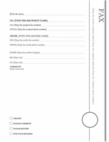 Fax cover sheet (Oriel theme)
