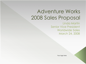 Sales proposal presentation