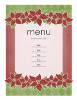 Holiday menu (Poinsettia design)