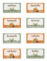 Place cards (Harvest design, 8 per page)
