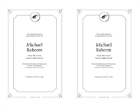 Graduation announcements (Formal design, 2 per page)