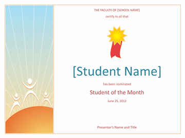 Student of the Month award (elementary)