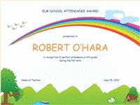 Student attendance award (elementary)