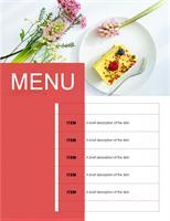 Party menu (Floral design)