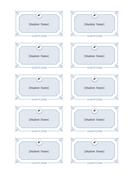Graduation name cards (Formal design - color, 10 per page)