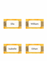 Place cards (Sun and Sand design, fold-over style, 4 per page)