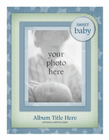 Baby photo album (Stars design)