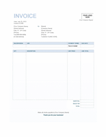 Service invoice (Blue Background design)