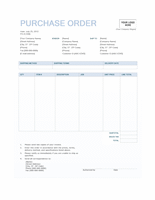Purchase order (Blue Background design)