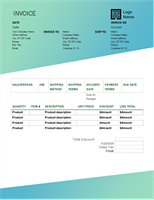 Sales invoice (Green Gradient design)