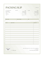 Packing slip (Green Gradient design)