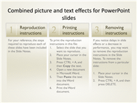 Combined picture and text effects for PowerPoint slides
