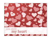 Valentine note cards (2 per page)