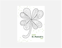 St. Patrick's Day coloring sheet (Shamrock design)