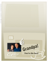 Grandparents Day photo card (for Grandpa, half-fold)