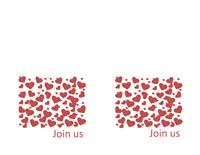 Valentine's Day tea party invitation (2/sheet)