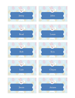 Easter party place cards (10 per page)