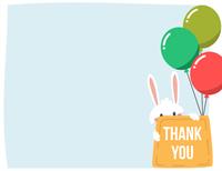 Easter thank you card (quarter-fold)