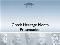 Greek Heritage Month presentation
