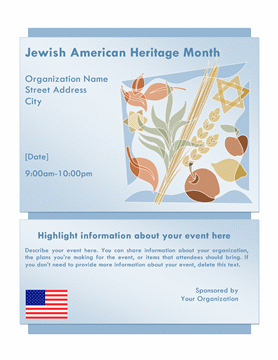 Jewish Heritage Month event flyer